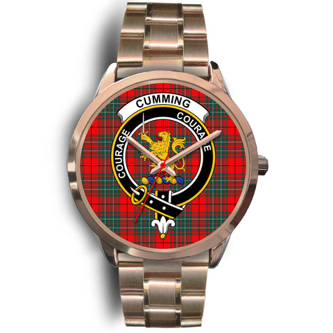 Cumming Modern, Rose Gold Metal Link Watch,  leather steel watch, tartan watch, tartan watches, clan watch, scotland watch, merry christmas, cyber Monday, halloween, black Friday