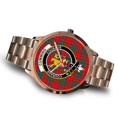 Cumming Modern, Brown Leather Watch,  leather steel watch, tartan watch, tartan watches, clan watch, scotland watch, merry christmas, cyber Monday, halloween, black Friday