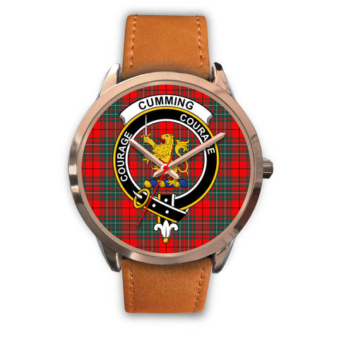 Cumming Modern, Pink Leather Watch,  leather steel watch, tartan watch, tartan watches, clan watch, scotland watch, merry christmas, cyber Monday, halloween, black Friday