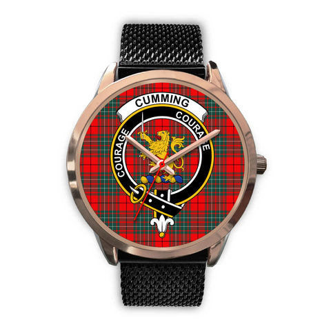 Cumming Modern, Silver Metal Link Watch,  leather steel watch, tartan watch, tartan watches, clan watch, scotland watch, merry christmas, cyber Monday, halloween, black Friday