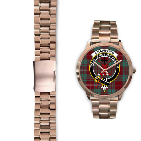 Crawford Modern, Black Leather Watch,  leather steel watch, tartan watch, tartan watches, clan watch, scotland watch, merry christmas, cyber Monday, halloween, black Friday