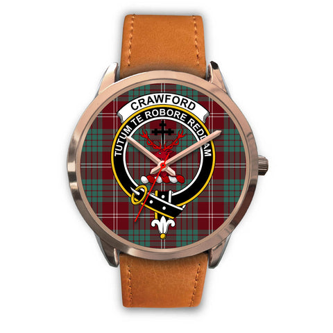Crawford Modern, Pink Leather Watch,  leather steel watch, tartan watch, tartan watches, clan watch, scotland watch, merry christmas, cyber Monday, halloween, black Friday