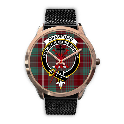 Crawford Modern, Silver Metal Link Watch,  leather steel watch, tartan watch, tartan watches, clan watch, scotland watch, merry christmas, cyber Monday, halloween, black Friday