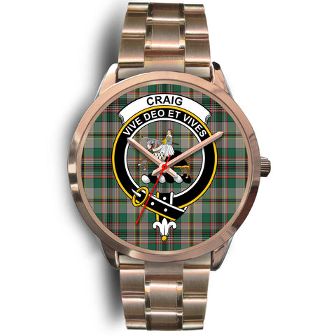 Craig Ancient, Rose Gold Metal Link Watch,  leather steel watch, tartan watch, tartan watches, clan watch, scotland watch, merry christmas, cyber Monday, halloween, black Friday