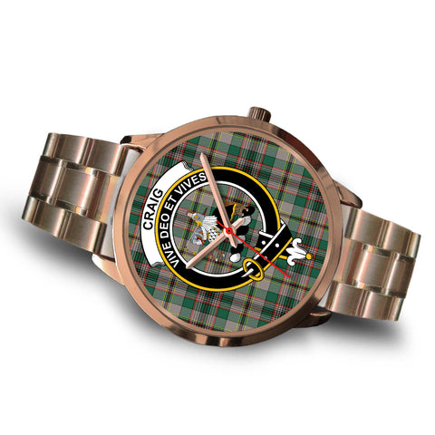 Craig Ancient, Brown Leather Watch,  leather steel watch, tartan watch, tartan watches, clan watch, scotland watch, merry christmas, cyber Monday, halloween, black Friday