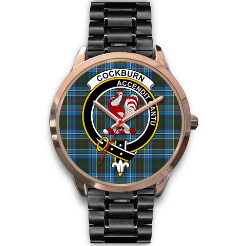 Image of Cockburn Modern, Rose Gold Metal Mesh Watch,  leather steel watch, tartan watch, tartan watches, clan watch, scotland watch, merry christmas, cyber Monday, halloween, black Friday