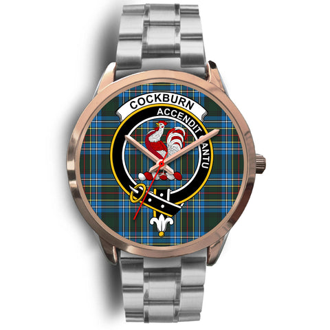 Cockburn Modern, Brown Leather Watch,  leather steel watch, tartan watch, tartan watches, clan watch, scotland watch, merry christmas, cyber Monday, halloween, black Friday
