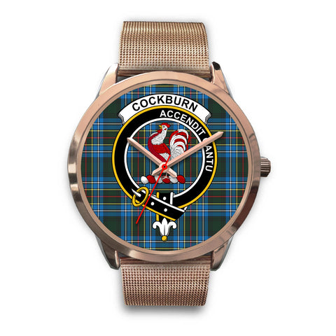 Cockburn Modern, Black Leather Watch,  leather steel watch, tartan watch, tartan watches, clan watch, scotland watch, merry christmas, cyber Monday, halloween, black Friday