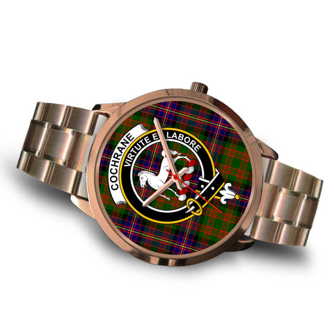 Cochrane Modern, Brown Leather Watch,  leather steel watch, tartan watch, tartan watches, clan watch, scotland watch, merry christmas, cyber Monday, halloween, black Friday