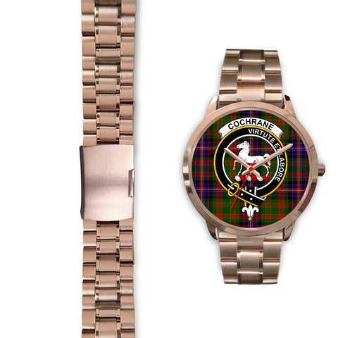 Cochrane Modern, Black Leather Watch,  leather steel watch, tartan watch, tartan watches, clan watch, scotland watch, merry christmas, cyber Monday, halloween, black Friday