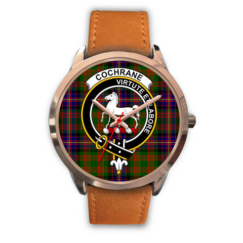 Cochrane Modern, Pink Leather Watch,  leather steel watch, tartan watch, tartan watches, clan watch, scotland watch, merry christmas, cyber Monday, halloween, black Friday