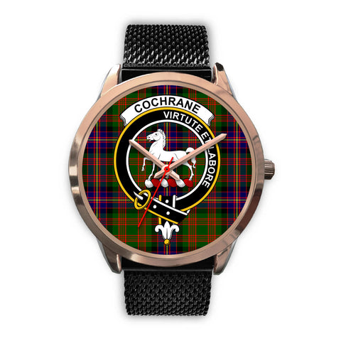 Cochrane Modern, Silver Metal Link Watch,  leather steel watch, tartan watch, tartan watches, clan watch, scotland watch, merry christmas, cyber Monday, halloween, black Friday