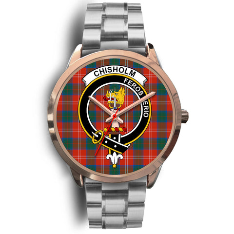Chisholm Ancient, Brown Leather Watch,  leather steel watch, tartan watch, tartan watches, clan watch, scotland watch, merry christmas, cyber Monday, halloween, black Friday