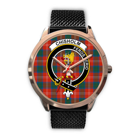 Chisholm Ancient, Silver Metal Link Watch,  leather steel watch, tartan watch, tartan watches, clan watch, scotland watch, merry christmas, cyber Monday, halloween, black Friday