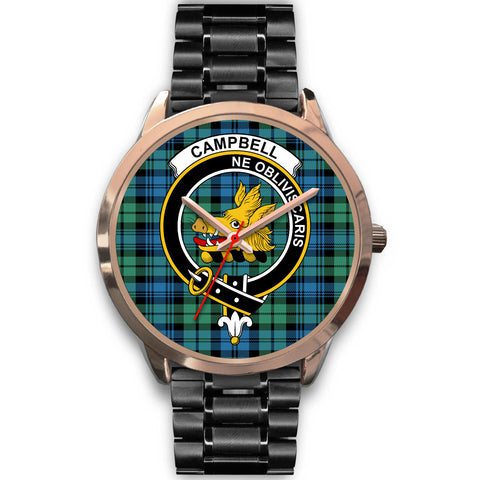 Campbell Ancient 01, Rose Gold Metal Mesh Watch,  leather steel watch, tartan watch, tartan watches, clan watch, scotland watch, merry christmas, cyber Monday, halloween, black Friday
