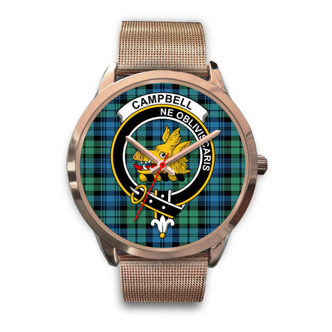 Campbell Ancient 01, Black Leather Watch,  leather steel watch, tartan watch, tartan watches, clan watch, scotland watch, merry christmas, cyber Monday, halloween, black Friday