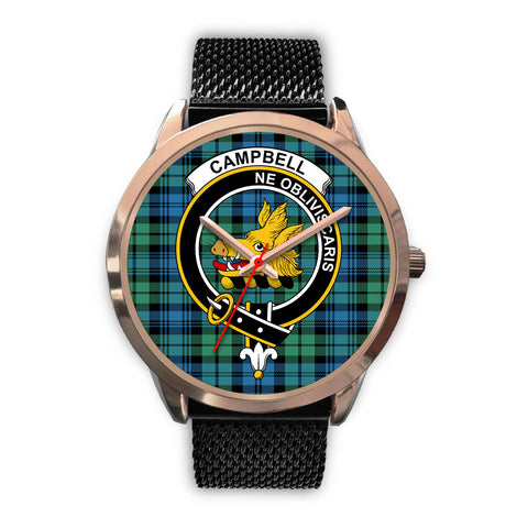 Campbell Ancient 01, Silver Metal Link Watch,  leather steel watch, tartan watch, tartan watches, clan watch, scotland watch, merry christmas, cyber Monday, halloween, black Friday
