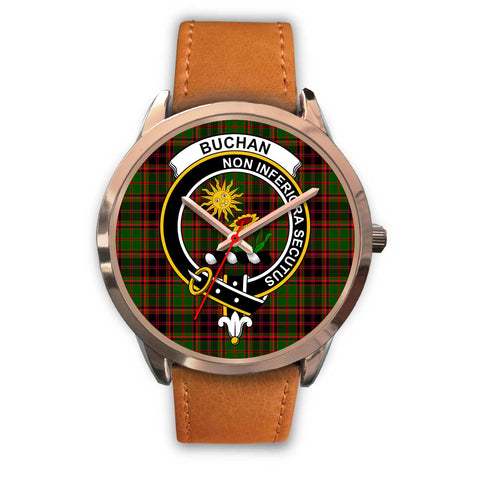 Buchan Modern, Pink Leather Watch,  leather steel watch, tartan watch, tartan watches, clan watch, scotland watch, merry christmas, cyber Monday, halloween, black Friday
