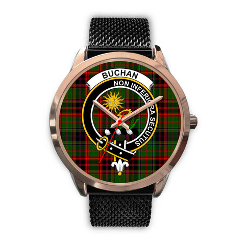 Buchan Modern, Silver Metal Link Watch,  leather steel watch, tartan watch, tartan watches, clan watch, scotland watch, merry christmas, cyber Monday, halloween, black Friday