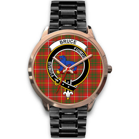 Image of Bruce Modern, Rose Gold Metal Mesh Watch,  leather steel watch, tartan watch, tartan watches, clan watch, scotland watch, merry christmas, cyber Monday, halloween, black Friday