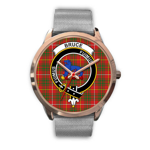 Bruce Modern, Rose Gold Metal Link Watch,  leather steel watch, tartan watch, tartan watches, clan watch, scotland watch, merry christmas, cyber Monday, halloween, black Friday