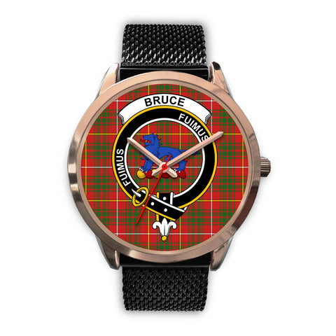 Image of Bruce Modern, Silver Metal Link Watch,  leather steel watch, tartan watch, tartan watches, clan watch, scotland watch, merry christmas, cyber Monday, halloween, black Friday