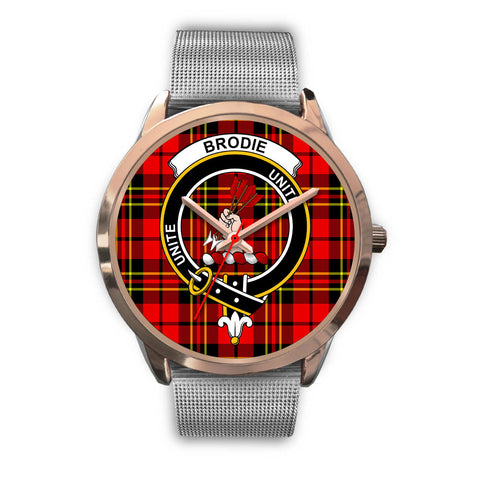 Brodie Modern, Rose Gold Metal Link Watch,  leather steel watch, tartan watch, tartan watches, clan watch, scotland watch, merry christmas, cyber Monday, halloween, black Friday