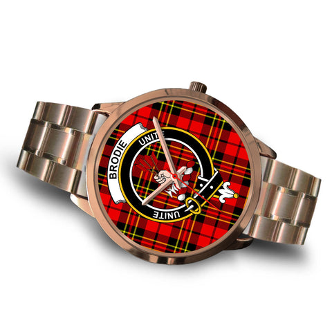 Brodie Modern, Brown Leather Watch,  leather steel watch, tartan watch, tartan watches, clan watch, scotland watch, merry christmas, cyber Monday, halloween, black Friday
