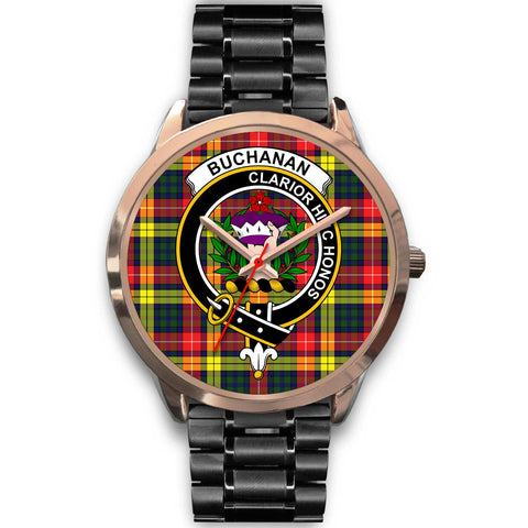 Image of Buchanan Modern, Rose Gold Metal Mesh Watch,  leather steel watch, tartan watch, tartan watches, clan watch, scotland watch, merry christmas, cyber Monday, halloween, black Friday