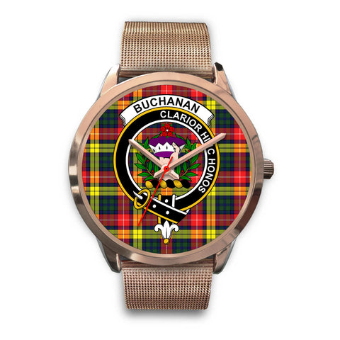 Buchanan Modern, Black Leather Watch,  leather steel watch, tartan watch, tartan watches, clan watch, scotland watch, merry christmas, cyber Monday, halloween, black Friday