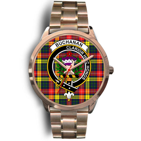 Buchanan Modern, Rose Gold Metal Link Watch,  leather steel watch, tartan watch, tartan watches, clan watch, scotland watch, merry christmas, cyber Monday, halloween, black Friday