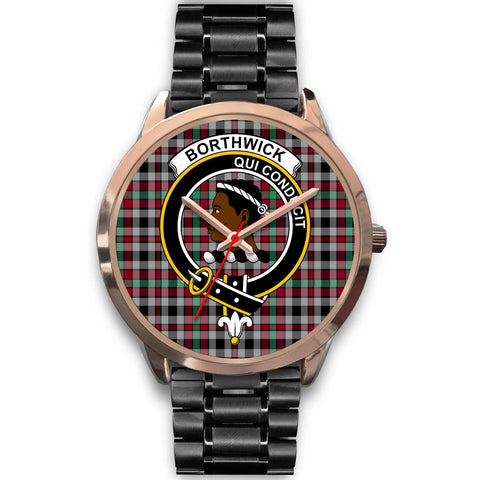 Borthwick Ancient, Rose Gold Metal Mesh Watch,  leather steel watch, tartan watch, tartan watches, clan watch, scotland watch, merry christmas, cyber Monday, halloween, black Friday