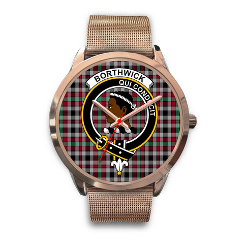 Borthwick Ancient, Black Leather Watch,  leather steel watch, tartan watch, tartan watches, clan watch, scotland watch, merry christmas, cyber Monday, halloween, black Friday