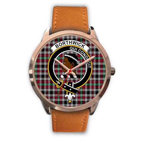 Borthwick Ancient, Pink Leather Watch,  leather steel watch, tartan watch, tartan watches, clan watch, scotland watch, merry christmas, cyber Monday, halloween, black Friday