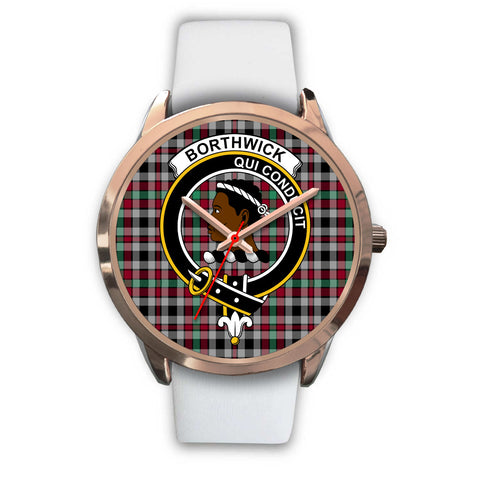 Borthwick Ancient, Black Metal Link Watch,  leather steel watch, tartan watch, tartan watches, clan watch, scotland watch, merry christmas, cyber Monday, halloween, black Friday