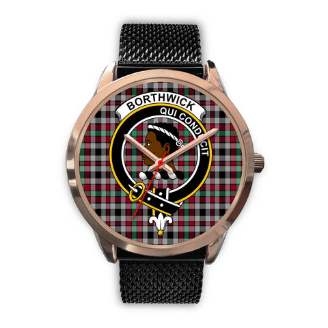 Borthwick Ancient, Silver Metal Link Watch,  leather steel watch, tartan watch, tartan watches, clan watch, scotland watch, merry christmas, cyber Monday, halloween, black Friday