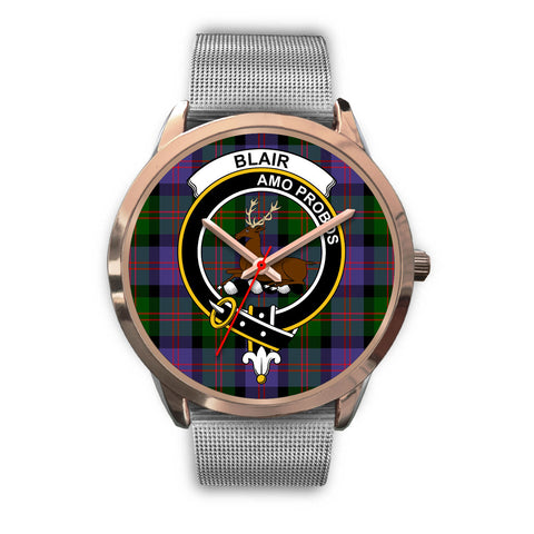 Image of Blair Modern, Rose Gold Metal Link Watch,  leather steel watch, tartan watch, tartan watches, clan watch, scotland watch, merry christmas, cyber Monday, halloween, black Friday