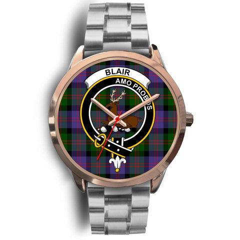 Blair Modern, Brown Leather Watch,  leather steel watch, tartan watch, tartan watches, clan watch, scotland watch, merry christmas, cyber Monday, halloween, black Friday