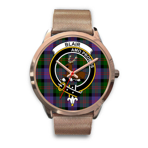 Blair Modern, Black Leather Watch,  leather steel watch, tartan watch, tartan watches, clan watch, scotland watch, merry christmas, cyber Monday, halloween, black Friday