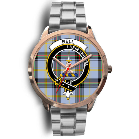 Bell of the Borders, Brown Leather Watch,  leather steel watch, tartan watch, tartan watches, clan watch, scotland watch, merry christmas, cyber Monday, halloween, black Friday