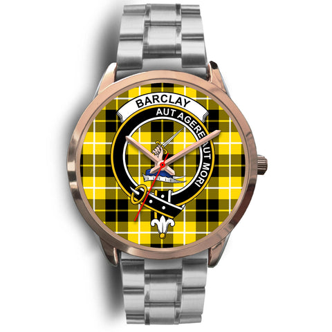Barclay Dress Modern, Brown Leather Watch,  leather steel watch, tartan watch, tartan watches, clan watch, scotland watch, merry christmas, cyber Monday, halloween, black Friday