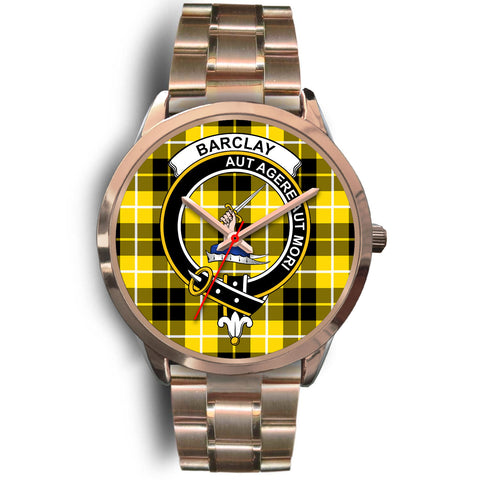 Barclay Dress Modern, Rose Gold Metal Link Watch,  leather steel watch, tartan watch, tartan watches, clan watch, scotland watch, merry christmas, cyber Monday, halloween, black Friday