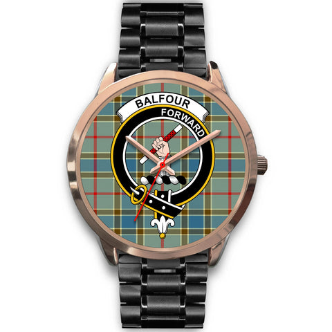 Image of Balfour Blue, Rose Gold Metal Mesh Watch,  leather steel watch, tartan watch, tartan watches, clan watch, scotland watch, merry christmas, cyber Monday, halloween, black Friday