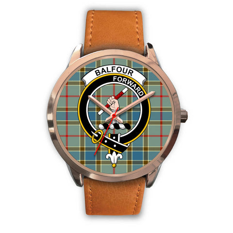 Image of Balfour Blue, Pink Leather Watch,  leather steel watch, tartan watch, tartan watches, clan watch, scotland watch, merry christmas, cyber Monday, halloween, black Friday