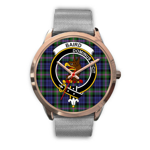 Baird Modern, Rose Gold Metal Link Watch,  leather steel watch, tartan watch, tartan watches, clan watch, scotland watch, merry christmas, cyber Monday, halloween, black Friday