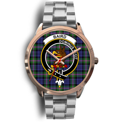 Image of Baird Modern, Brown Leather Watch,  leather steel watch, tartan watch, tartan watches, clan watch, scotland watch, merry christmas, cyber Monday, halloween, black Friday