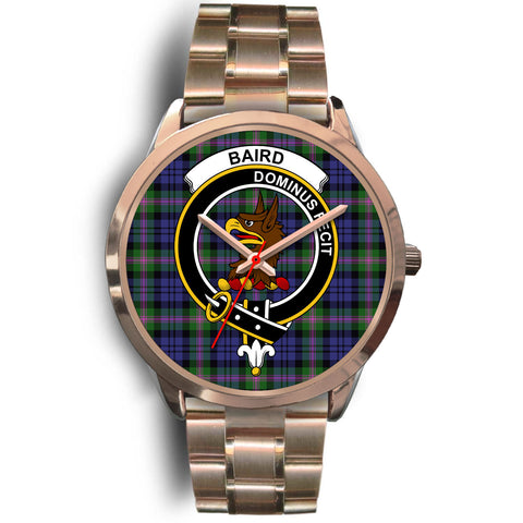 Image of Baird Modern, Rose Gold Metal Link Watch,  leather steel watch, tartan watch, tartan watches, clan watch, scotland watch, merry christmas, cyber Monday, halloween, black Friday