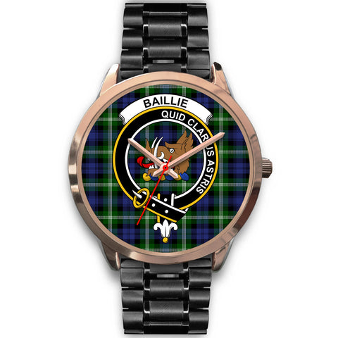 Image of Baillie Modern, Rose Gold Metal Mesh Watch,  leather steel watch, tartan watch, tartan watches, clan watch, scotland watch, merry christmas, cyber Monday, halloween, black Friday