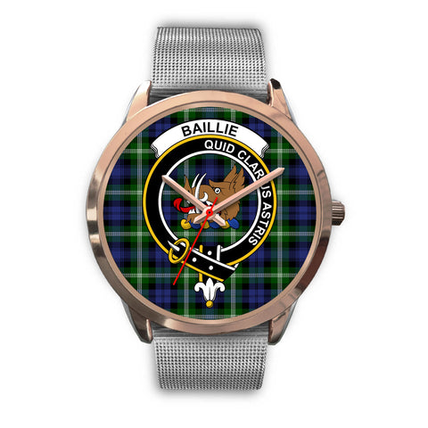 Baillie Modern, Rose Gold Metal Link Watch,  leather steel watch, tartan watch, tartan watches, clan watch, scotland watch, merry christmas, cyber Monday, halloween, black Friday