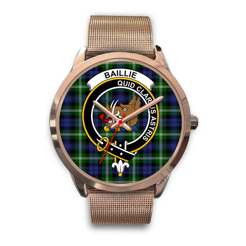 Image of Baillie Modern, Black Leather Watch,  leather steel watch, tartan watch, tartan watches, clan watch, scotland watch, merry christmas, cyber Monday, halloween, black Friday